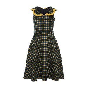 Voodoo Vixen Collared Polka Dot Dress